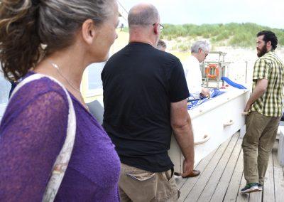 uitvaart op boot